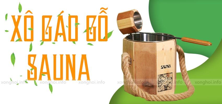 Bộ xô gáo gỗ sauna ( lõi inox) cao cấp | Xông hơi Bilico
