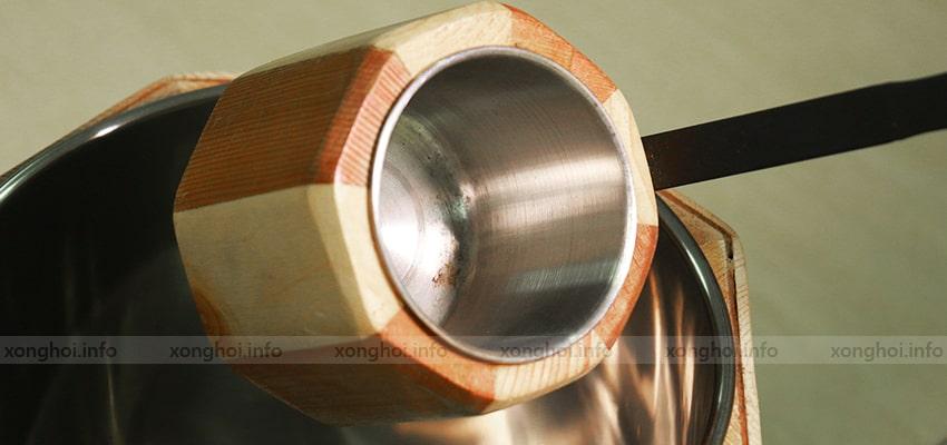 Hình ảnh sản phẩm bộ xô gáo gỗ sauna