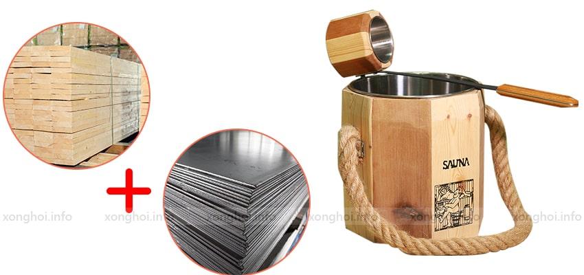 Đặc điểm sản phẩm bộ xô gáo gỗ sauna