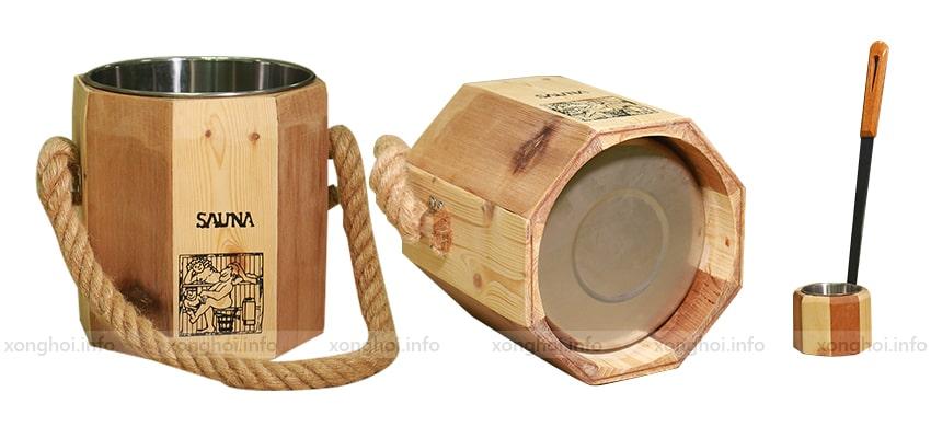 Trọn bộ xô gáo gỗ sauna