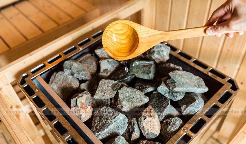 Sử dụng sản phẩm đá xông hơi Narvi