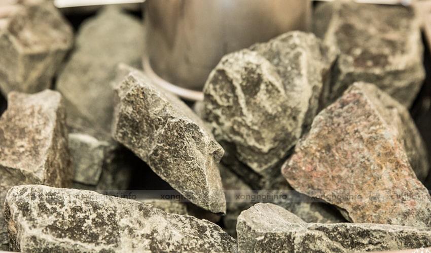 Sản phẩm đá xông hơi Narvi thực tế
